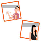 Lady. Dress up nice for dinner Vector Illustration