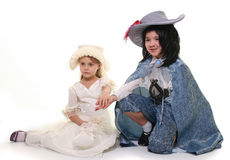 Lady And Musketeer Royalty Free Stock Images