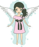 Lady-angel Stock Images
