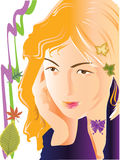 Lady art design Stock Images