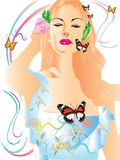 Lady art design Royalty Free Stock Images