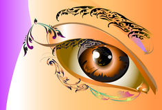 Lady art design and line thai Royalty Free Stock Photo