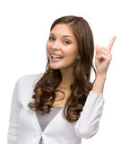 Lady attention gestures Royalty Free Stock Image
