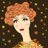 Lady autumn Royalty Free Stock Images