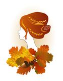 Lady autumn Royalty Free Stock Photography