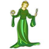 Lady Av Fjäder vektor illustrationer