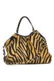 Lady bag. Stylish ladies handbag against the white background Stock Photos
