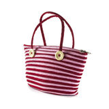 Lady bag made from zipper Royalty Free Stock Images