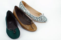 Lady ballet flat shoes Royalty Free Stock Photos