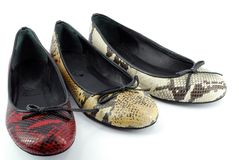 Lady ballet flat shoes Royalty Free Stock Image