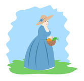 Lady with a basket Stock Photography