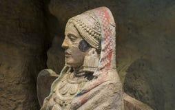 Lady of Baza, Iberian Art Stock Images