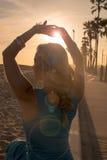 Lady at the beach Royalty Free Stock Photos
