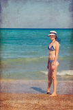 Lady at the beach Royalty Free Stock Image