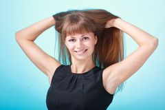 Lady with beautiful hair Royalty Free Stock Images