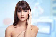 Lady in beauty clinic Stock Photography