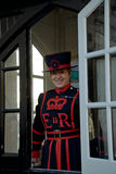 Lady Beefeater at the Tower of London Stock Image