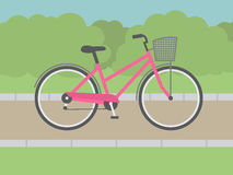 Lady Bike Royalty Free Stock Photography