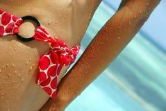 Lady bikini detail Stock Photo