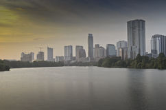 Lady Bird lake in downtown Austin Royalty Free Stock Image