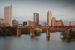 Lady Bird lake and downtown Austin Texas Stock Image