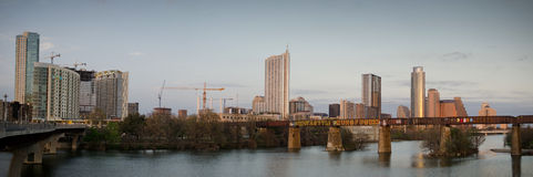 Lady Bird lake and downtown Austin Texas Royalty Free Stock Image