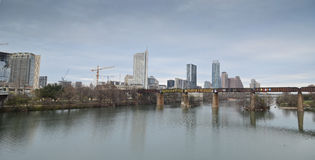 Lady Bird lake and downtown Austin Texas Royalty Free Stock Photo