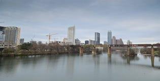 Lady Bird lake and downtown Austin Texas royalty free stock photo