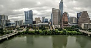 Lady Bird lake in downtown Austin TX Stock Images