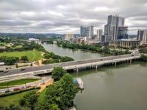 Lady Bird See in im Stadtzentrum gelegenem Austin TX Lizenzfreie Stockbilder
