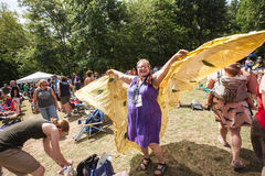 Lady in BIrd Wings at the Wild Goose Festival Royalty Free Stock Photography