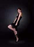 Lady on black background Stock Photography