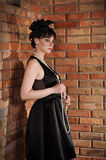 Lady in black dress Stock Photo