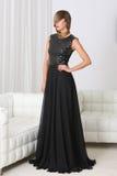 Lady in black dress Stock Photo