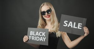 Lady with black friday poster