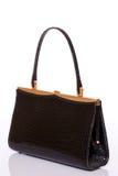 Lady black handbag Stock Images