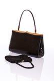 Lady black handbag and wallet Royalty Free Stock Photo