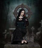 Lady in Black Stock Photos