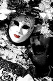 The lady in Black and White Royalty Free Stock Images