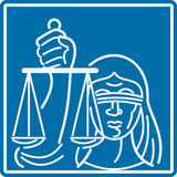 Lady Blindfolded Holding Scales of Justice Royalty Free Stock Photo