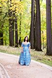 Lady in blue Royalty Free Stock Images