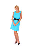 Lady in blue Royalty Free Stock Photos
