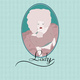 Lady Blue Royalty Free Stock Image