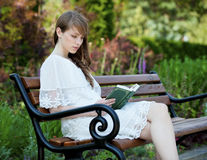 Lady with a book Stock Photo