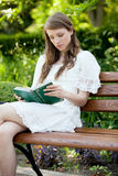 Lady with a book Royalty Free Stock Images