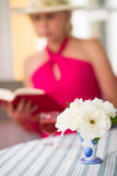 Lady and book Royalty Free Stock Image