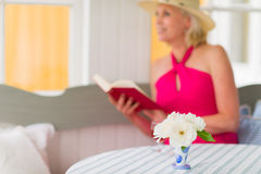 Lady and book Stock Photo
