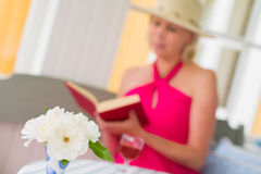 Lady and book Royalty Free Stock Photo