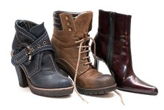 Lady boots Royalty Free Stock Images