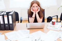 Lady is bored Stock Photography